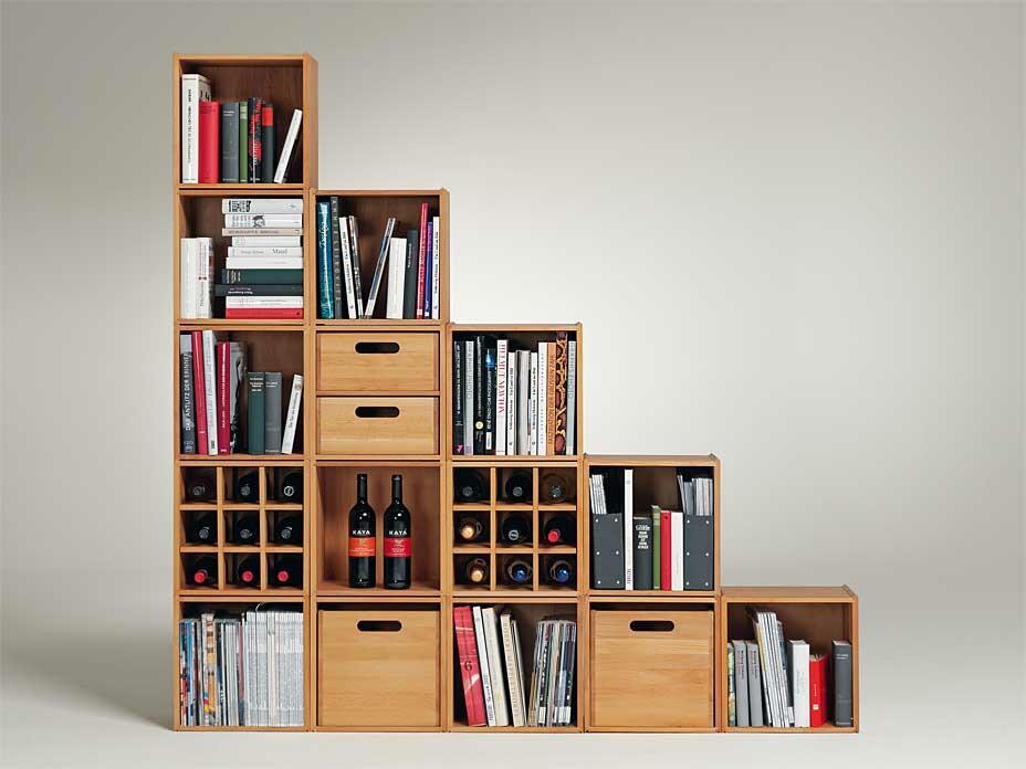stapelbox regalsystem von wasa wohnen. Black Bedroom Furniture Sets. Home Design Ideas