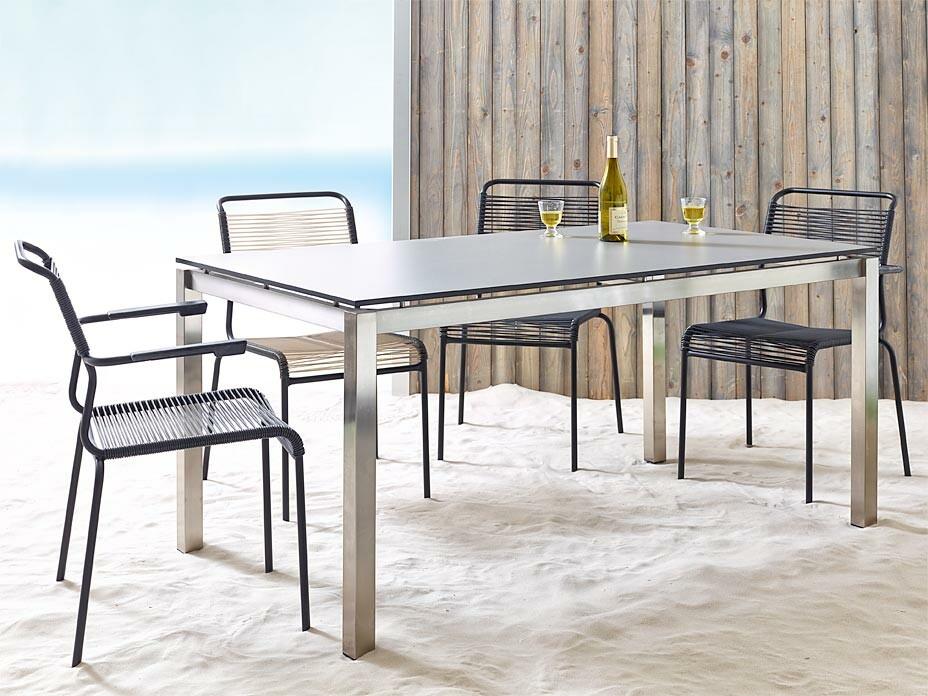 edelstahl tisch silver metall tisch sofort lieferbar. Black Bedroom Furniture Sets. Home Design Ideas