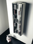 Wandcontainer für CDs Buddy für 98 CDs, vertikale Montage, Aluminium, natur, eloxiert
