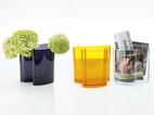 Zeitschriftenständer/Vase Isola orange
