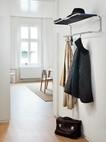 Garderobe mit Hutablage S 1520 schwarz/Stahlrohr