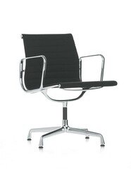 Besucherstuhl Alu-Chair Stoff, Gestell verchromt   schwarz