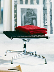 Hocker Alu-Chair Gestell: Aluminium, verchromt   schwarz