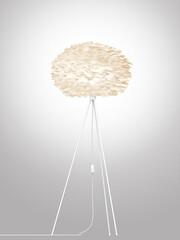 Stehleuchte Eos Höhe: 139 cm, Ø Schirm: 45 cm | Schirm: weiß, Gestell: matt weiß lackiert