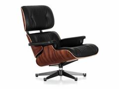 Lounge Chair Höhe 89 m (Neue Maße von 2010)   Palisander, Bezug Leder schwarz
