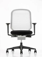 Bürodrehstuhl MedaPal eco mit Armlehnen   Rücken: weiß, Sitz: schwarz