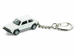 Schlüsselanhänger VW-Golf GTI mit Garage