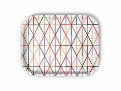 Tablett Classic Tray Grid 36 x 28 cm   bunt