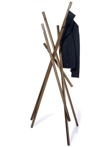 Garderobe Sticks Nussbaum, geölt