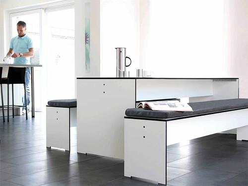 Bank Riva Breite 216 cm, weiß