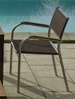 Stapelsessel San Remo Gestell: Edelstahl, Textilene: braun