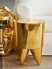 Hocker Bubu ABS, gold