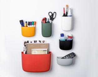 Wandaufbewahrung Pocket Organizer 1 Kunststoff, hellgrau