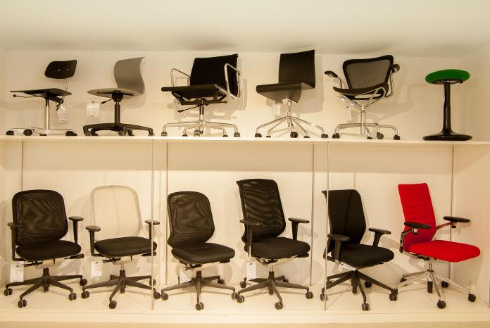 Bürostühle im Cairo Designstore Nürnberg